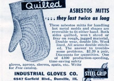 Asbestos in Oven Mitts